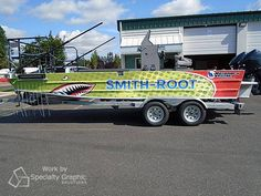 Turn heads on the water with a boat wrap! Wrap designed & installed by Specialty Graphic Solutions. Materials Used: 3M IJ180Cv3 & 8519. www.sgsgraphic.com Boat Wraps, Monster Trucks, Water, Design, Gripe Water