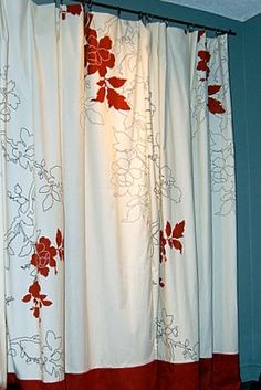 think it would be fun to stencil in my own pattern to shower curtains and drapes