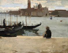 Sir John Lavery R.A., R.S.A., R.H.A. (1856-1941) San Giorgio Maggiore from the Riva dei Schiavoni, Venice 25.4 x 33 cm. (10 x 13 in.)