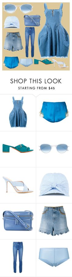 """Fashion With Pompom Top"" by justinallison ❤ liked on Polyvore featuring Marques'Almeida, Gilda & Pearl, Santoni, Garrett Leight, ALEXA WAGNER, Federica Moretti, 10 Crosby Derek Lam, RED Valentino, Nobody Denim and Marlies Dekkers"