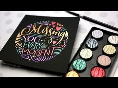 Hand Lettering in a Circle Shape (FineTec Pearl Watercolors)  on black paper (Bazzill Card Shoppe Licorice Twist Cardstock)