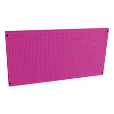 The Original Pink Box Steel Peg Board by Cala Industries Inc. $69.99. Organize and display your tools with The Original Pink Box Steel Peg Board. This board is made from 18-gauge steel for long-lasting durability and showcases an eye-catching pink finish that will make your garage or workshop incredibly unique and totally you! Both the 36-inch and 48-inch models utilize standard 1- x 1-inch squares that fit most peg designs and the board also possesses a built-in f...