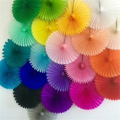 15cm 20cm 30cm 5pcs Paper Fans Hand Fan For Wedding Decoration DIY Crafts Birthday Party Kid Christmas decorations New Year