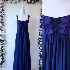 691f653864a Excited to share this item from my  etsy shop  Vintage 90s Prom Dress -  1990s Purple Maxi Length Corset Flowy Chiffon -Studibaker Formal Evening  Gown ...