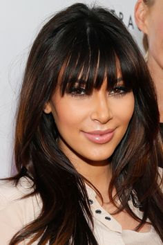 Kim Kardashian Bangs Hair 2013 - Kim Kardashian Hairstyles Over the Years