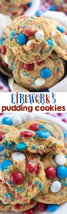 FIREWORKS PUDDING COOKIES!#Recipes#Trusper#Tip