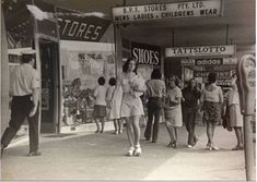 Shoppers outside BPF Stores in the mid Melbourne Victoria, Historical Photos, Vintage Images, Regional, Old Photos, 1970s, Nostalgia, Street View, Australia