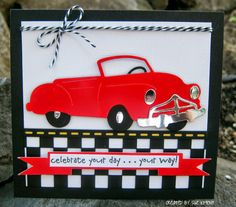 Sue's Stamping Stuff: RED Convertible Sizzix Die- Father's Day or birthday idea