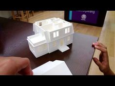 MakerBot 3D Printed Model House