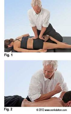 Sacroiliac Joint Syndrome treatment, deep tissue massage and stretch.