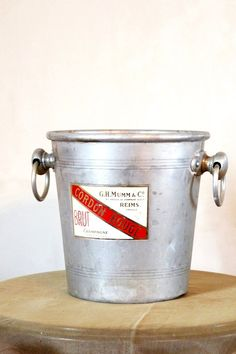 Vintage Ice Bucket G H Mumm & Co Reims France by LaCassoulere, €35.00