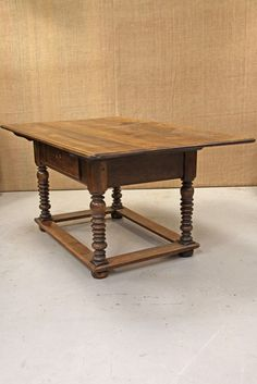 18th Century wide walnut table - The French House