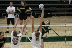 Volleyball Attacking Rules: What Is A Spike In Volleyball?   Volleyball Attacking: if you choose to hit the ball hard, after taking your spike approach to the ball and jumping in the air to hit it, that's called a spike. (Shaun Calhoun)