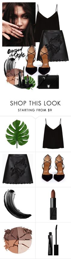 """""""S T Y L E"""" by jessieanna ❤ liked on Polyvore featuring Raey, BCBGMAXAZRIA, Aquazzura, Maybelline, NARS Cosmetics, lilah b. and Givenchy"""