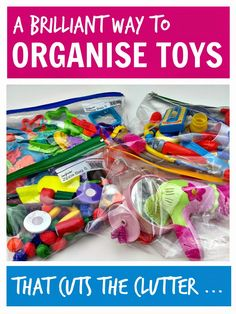 An easy way to organise toys so they stop taking over the house and actually get played with ...