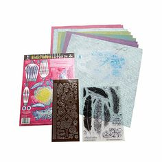 """Hot Off The Press Fancy Feathers Crafting Kit @ HSN THE INCLUDED CLEAR STAMP SET COST $17.95 ANYWHERE ELSE. HSN GIVES US: 20 CLEAR STAMPS + DESIGN TOOL KIT (TEMPLATES) + 3D PAPER TOLE FOIL DIE-CUTS + DAZZLES + 12 SHEETS OF 12""""X12"""" PAPERS. ALL FOR $17.95!!! STAMP SET & TEMPLATES ARE REUSABLE! FANTASTIC DEAL! I'M ORDERING MY 4 FREE ITEMS... HSN SHOULD PAY ME FOR SELLING THEIR STUFF. TOO GOOD TO NOT SHARE WITH MY PINNERS!  ;-)"""