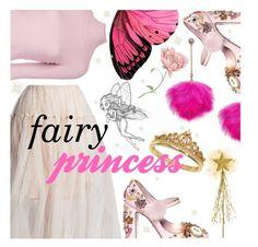"""Fairy Princess"" by sanssoucistores ❤ liked on Polyvore featuring Betsey Johnson, Sans Souci, Eternally Haute, A.L.C., Dolce&Gabbana, princess, fairy, halloweencostume, DIYHalloween and sanssoucistores"