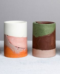 Maddie and Becc Sharrock; 'Cement Ceramic' Vessels for Studio Twocan, 2015.
