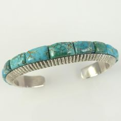 Carico Lake Turquoise Cuff by Alvin Yellowhorse - Garland's Indian ...
