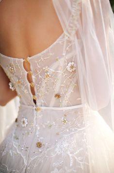 Dream Wedding Dresses, Bridal Dresses, Prom Dresses, Floral Dress Wedding, Elf Wedding Dress, Modern Wedding Dresses, Garden Wedding Dresses, Wedding Goals, Wedding Day