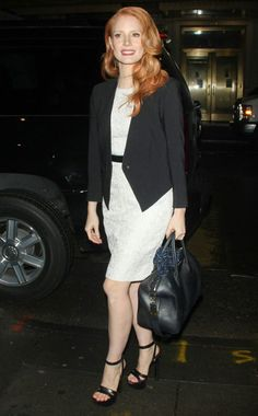 work outfit // Jessica Chastain