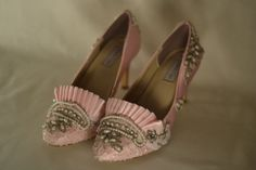Marie Antoinette Pink Beaded Pumps by OxfordIsHeaven on Etsy, $190.00