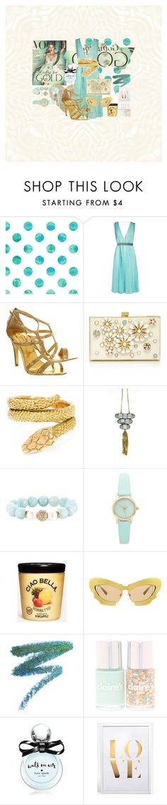 """""""Golden souls"""" by pilpanher ❤ liked on Polyvore featuring Vionnet, Ted Baker, Elie Saab, Cartier, Devoted, Ciao Bella, Prabal Gurung, Manic Panic and Kate Spade"""