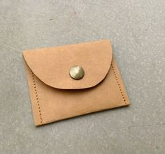 Kraft fabric paper coin purse #belltastudio #etsy #paperbag #purse #pouch #coinpurse #coinpouch #coinbag #kraftpaper #waterproof