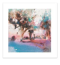 Size : x in White border : in Numbered and signed on 30 copies Shipping cost included, without frame Watercolor Architecture, Watercolor Landscape, Abstract Watercolor, Landscape Paintings, Watercolor Paintings, Watercolors, Landscapes, Presentation, House Painting