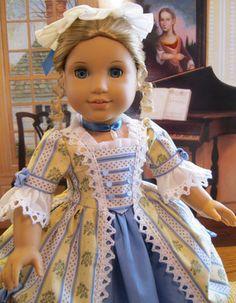 "Summer Gentility for Elizabeth or Felicity American Girl doll 18in"" |$192.49 eBay by petrassewingbox"