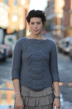 Camilla pullover from quince & co.  Saw this sweater at Stitches and loved it.