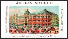 Au Bon Marché, premier grand magasin de Paris (1852)