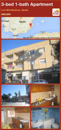 3-bed 1-bath Apartment in Los Montesinos, Spain ►€69,000 #PropertyForSaleInSpain