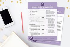 Check out Crisp Purple Resume Template Package by JannaLynnCreative on Creative Market