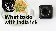 What is India ink, and how do you use it? That& what you& learn in this week& Draw Tip Tuesday. In this video. Sketchbook Skool co-founder Koosje Koene shows you all the different ways you… Illustration Techniques, Drawing Techniques, Drawing Tips, Sketches Tutorial, Writing Art, Ink Wash, Creative Lettering, India Ink, Painting Tips