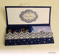 VillaTuta: Suklaakortti Christmas Diy, Christmas Cards, Chocolate Card, Decorative Boxes, Frame, Gifts, Gift Ideas, Google, Xmas Greeting Cards