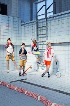 Kids fashion editorial for Hooaeg magazine Old pool / kids / Penny boarding / skateboards  Style www.sandinyourshortskidsblog.com