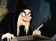 *MEAN ol' WITCH ~ Snow White and the Seven Dwarf's.  We had to fast forward some of the witch parts when my daughters were very young.