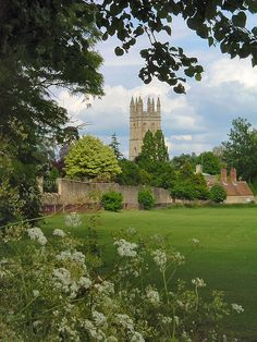 Oxford - Christ Church Meadow and Magdalen Tower by Isisbridge. Before I went to England, I'd see scenes like this & think they must have been from 100 years ago. But once you get out of the cities, you see this sort of thing everywhere! Just another reason why I love England....