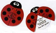 Lady Bug Invitations. So cute!