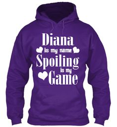 Diana Is My Name Purple Sweatshirt Front