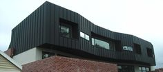 SIG Design & Technology Why is Zinc Roofing and Cladding so popular with Architects? Steel Cladding, House Cladding, Wall Cladding, Cladding Materials, Cladding Systems, Black Architecture, House Architecture, Zinc Roof, Timber Battens