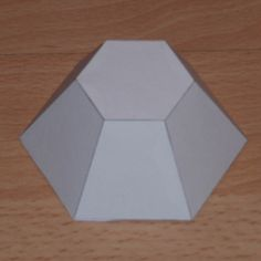 Paper model truncated hexagonal pyramid ~ fantastic paper models for stained glass terrarium creations