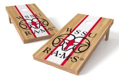 Winston Salem State Rams Cornhole Board Set - Court