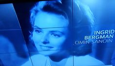 NEWS PREMIERE Ingrid BERGMAN Omin Sanoin MOVIE Today 11.9.2015. finkino.fi Yle.fi TV1 News. Follow&Must See. SMILE