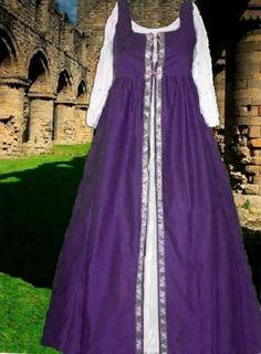 Renaissance Medieval SCA Garb Purple Overgownfrtlcg Irish Style Szflexcotton LXL | eBay