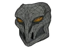 Marvel Comics - Life Size Avengers World Taskmaster Mask for Cosplay Ver.2 Free Papercraft Download - http://www.papercraftsquare.com/marvel-comics-life-size-avengers-world-taskmaster-mask-for-cosplay-ver-2-free-papercraft-download.html#Avengers, #Cosplay, #LifeSize, #MarvelComics, #Mask, #Taskmaster