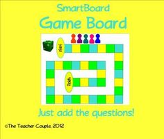 Use this interactive game board for any content. Great for review! Divide the students into groups and have them advance around the game board with...