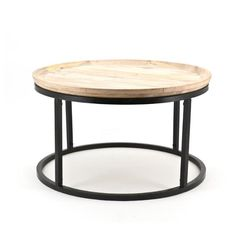 Bijzettafel Table Solo Groot  Description: De Bijzettafel Table Solo heeft een fraai uniek rond ontwerp. Het metalen frame geeft de tafel een industriële uitstraling. Deze tafel heeft een lichtbruin tafelblad en kan daardoor makkelijk gecombineerd worden met andere meubelen en woonaccessoires. Plaats een leuke plant of dienblad met kaarsen op de tafel voor een compleet geheel. Deze unieke Bijzettafel Table Solo Large komt goed tot zijn recht invooral een landelijke industriële en moderne…