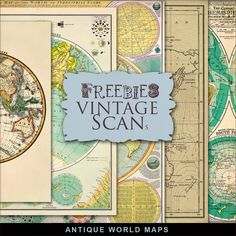 Far Far Hill - Free database of digital illustrations and papers: New Freebies Kit of Antique World Maps